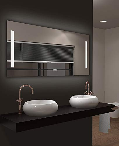 Talos Star Badspiegel, Lichtfarbe 4200K,Digitaluhr , 120x 60 cm