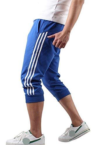 Hooleeger 3/4 Hose Herren Jogginghose Trainingshose Oversize Sporthose Capri Hose