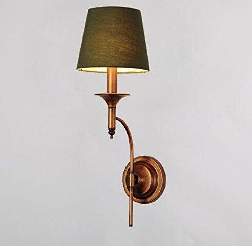 Vor Dem Bett Schlafzimmerspiegel Amerikanische Minimalist All-Kupfer-LED Wandleuchte Salon Single-Aisle-Kopf Retro-Wandleuchten 10in * 22in,Green