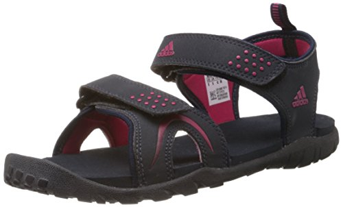 adidas Women's ESTA W Black and Red Sandals & Floaters - 8 UK  available at amazon for Rs.1899