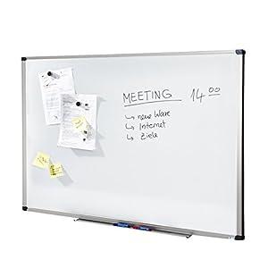 MOB Whiteboard Economy | Testnote 1,5 | schutzlackierte Magnettafel beschreibbar – im stabilen Alurahmen | als…