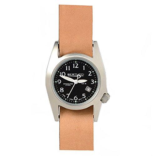Bertucci 18013Unisex fascia in pelle in acciaio inox quadrante nero smart watch