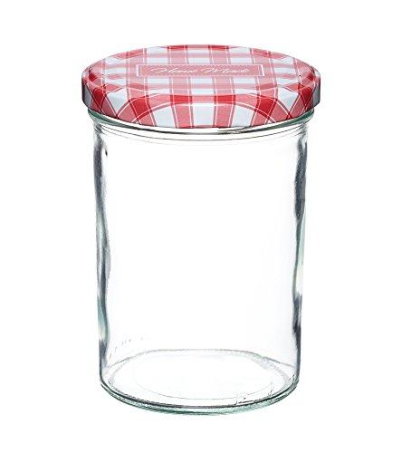 KitchenCraft Home Made Einmachglas mit Schraubdeckel, 440ml - Jam Pot