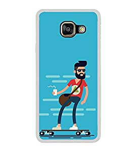 Cool Dude 2D Hard Polycarbonate Designer Back Case Cover for Samsung Galaxy A3 (2016) :: Samsung Galaxy A3 2016 Duos :: Samsung Galaxy A3 2016 A310F A310M A310Y :: Samsung Galaxy A3 A310 2016 Edition