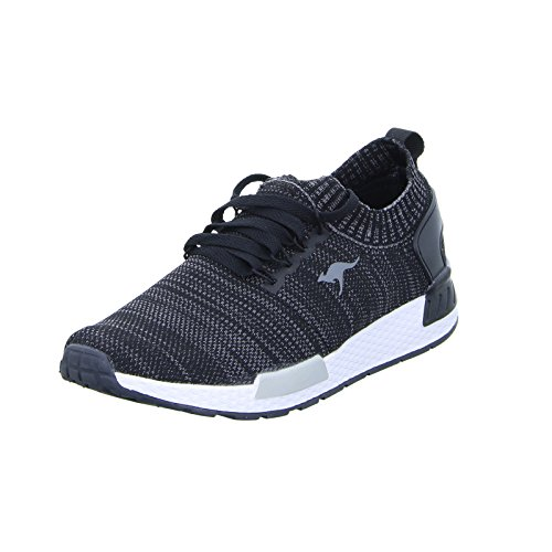 KangaROOS KR-Run 5, Sneaker Unisex-Adulto, Grigio (Steel Grey/Blossom rosa 2025), 38 EU