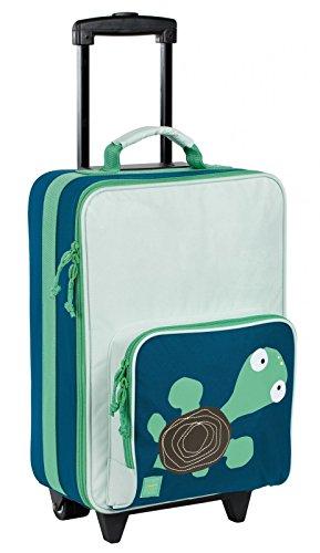 Lässig stabiler Kinder Reisekoffer/Kindertrolley mit separatem Schuh-/Wäschebeutel, Crocodile granny grün