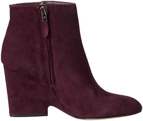 Sam Edelman Damen Wilson Kurzschaft Stiefel Rot (Port Wine KID SUEDE)