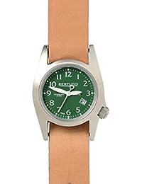 Bertucci 18015Unisex acero inoxidable banda de piel verde Dial Reloj Inteligente