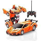لعبة سيارة متحولة الى روبوت مع ريموت كونترول للاولاد - برتقالي