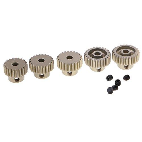 Sharplace 5pcs 48DP 21T-25T Zahnrad Motorritzel für 1/10 RC Auto