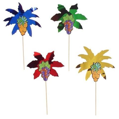 """50 Pics décoratifs - apéritifs - 19.5 cm - """"feuilles de palmier"""""""