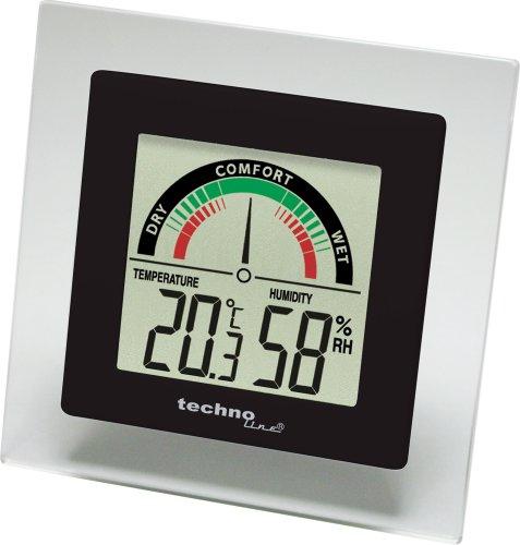 Technoline WS 9415 - Estación meteorológica, color negro y transparente