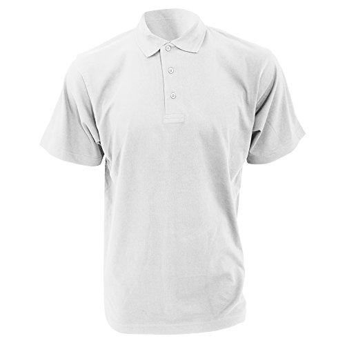 Kustom Kit Jersey Knit Herren Polo-Shirt, Kurzarm Schwarz
