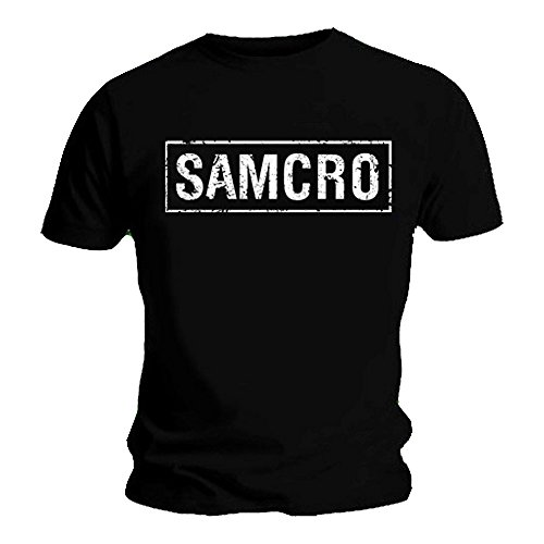 Sons of Anarchy Official T Shirt Black SAMCRO TEXT Logo