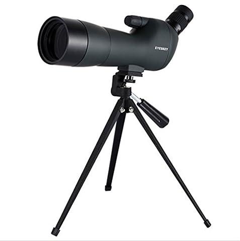 Boblov Eyeskey Longue-vue 20-60x60 Spotting Scope, Étanche et Anti-buée, Oculaire Coudé 45°, Avec Trépied pour Les Activités Sportives et Observation en