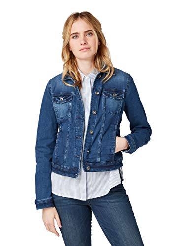 TOM TAILOR Damen Jeansjacke 1007962, Blau (Stone Blue Denim 10141), XXX-Large (Herstellergröße: XXXL)