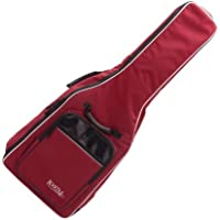 Rocktile 21130 - Bolsa guitarra clásica, correas acolchadas, mochila burdeos