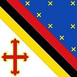 magFlags Flagge: Large Valverde de Júcar | Distribuida por mitad en Alto | Fahne 1.35m² | » Fahne 100% Made in Germany