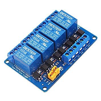 Sellify Electrical Equipments 3,3 V 5 V 12 V 24 V 4 Kanal Relais Modul High und Low Level Trigger Dual Optokoppler Isolation Relay Modul - (Größe: 12 V): 12 V