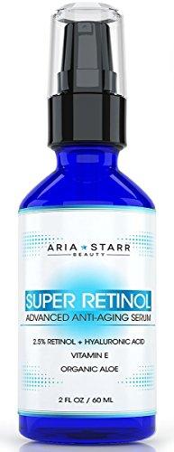 Arien-Stern-Schönheit Aria Starr Beauty Sérum rétinol 2,5% Aria Starr beauté hyaluronique jojoba du E, Aloe, vitamine acide, huile, thé vert, 2 onces liquides