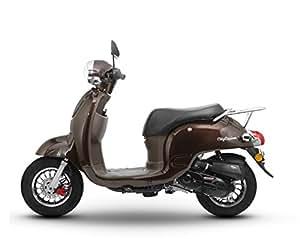 Retro Roller CityCruiser 50 49 mokka-braun Motorroller Scooter Moped Mofa Cruiser braun