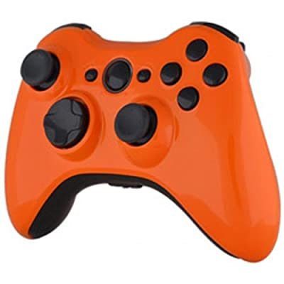 Xbox 360 Wireless Controller - Tropical Orange with Black Buttons