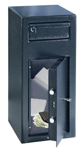 Rottner Einwurftresor Cashmatic 1, Doppelbartschloss, Verankerungsmaterial, Montage-Bohrungen,