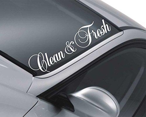 Adesivo per parabrezza auto m95 assetto ribassato con scritta: Clean & Fresh