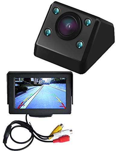 "Auto rückwärts - Backup Kamera + 4.3""hd LCD - Monitor, 170 ° weitwinkel - Reverse - rückwärts - kameras mit Einem nachtsichtgerät hd LED für universelle Auto Fahrzeug - Van Heavy - Duty - Bus"