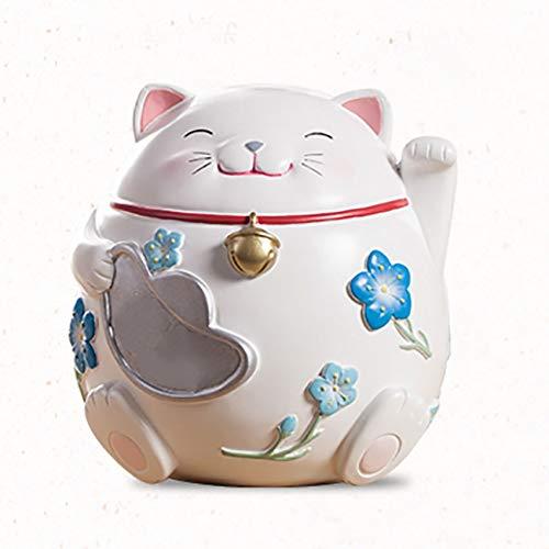 Art und Weise glückliche Katze verziert Münzenänderungsdosen Erwachsene Kinder Karikaturschweinchen kreatives Persönlichkeitsgeburtstagsgeschenk Sparschwein ()