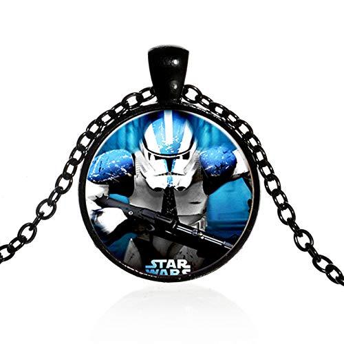 Qualität Stormtrooper Kostüm Hohe - Star Wars Halskette Stormtrooper Darth Vader Figur Glas Cabochon Anhänger Halskette Für Jungen Mädchen Kinder Spielzeug Filme Schmuck