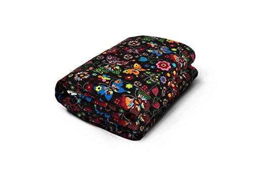 TherapieDecke - Schwarze Gewichtsdecke mit Schmetterlingen - Schwere Decke für Erwachsene/Jugendliche Für besseren Schlaf, Größe: 135x200 cm, 6 kg