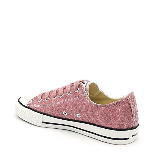 victoria Unisex-Erwachsene Basket Lurex autoclave Sneaker Pink (Rosa)