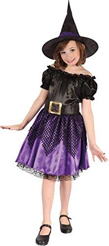 Violett Kostüm Das Clown - Unbekannt P 'Tit Clown-98085-Kostüm Kinder Luxe Hexe-Größe-Schwarz/Violett