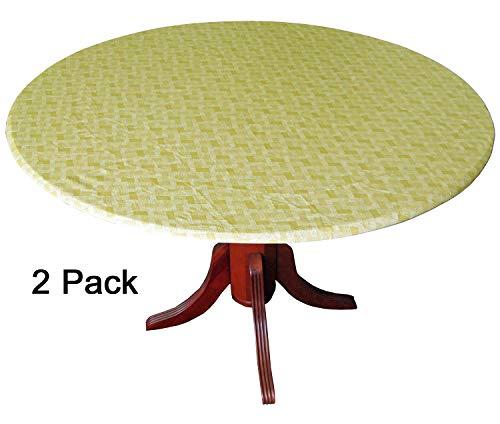 WeavePrint Tischdecken, Korbgeflecht, goldfarben, 2 Stück -