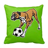 Jolly2T Boxer Dog with Soccer Ball Pillow Case