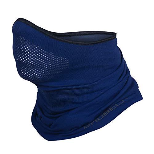 Brubeck® X-Pro Halbe Sturmhaube | Klimaregulierend | Gesichtsmaske | Sturmmaske | Funktionskleidung | Atmungsaktiv | Anti-allergisch | Antibakteriell (Dunkelblau, S - M)