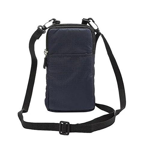 Multifunktions Sport Taille Tasche, Gengdaxin Nylon Taille Pack kleine Brieftasche mit Schultergurt, Handy Tasche, Outdoor Fanny Belt Taschen für Radfahren, Skaten, Laufen, Joggen, Wandern Hund (Blau)