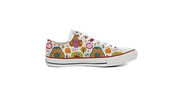 Converse Customized Adulte - chaussures coutume (produit artisanal) Autumn Forest size 35 EU