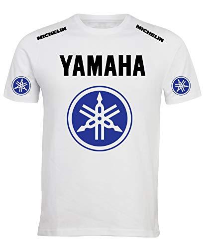REITANO GROUP T-Shirt Stile Yamaha Maglietta Maglia Uomo Sport gimkana Racing Auto Rally Moto YAHB1 (XL)