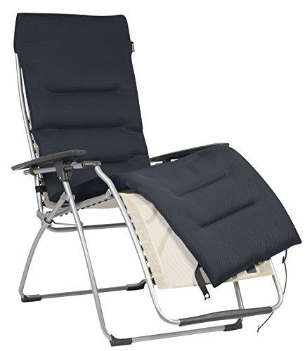 Lafuma LFM2604_7278 Cubierta acolchada Air Comfort para tumbonas relax, Negro (Acero), 171 x 49.5 cm