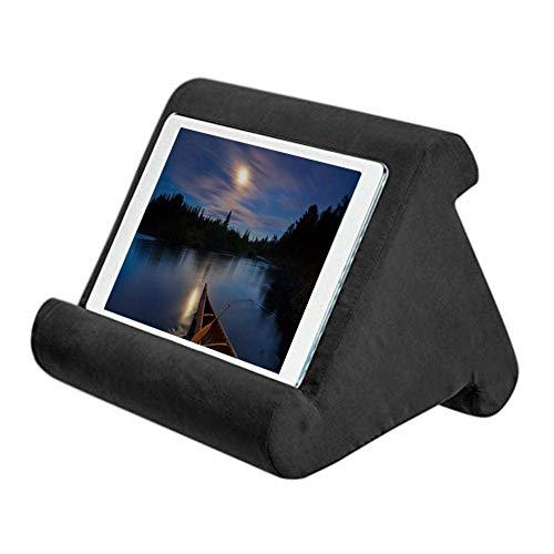 Riou Tablet Ständer Kissen, Multi-Angle Soft Basic Handy Halter Tablet Halterung für Max 10 Zoll Ipad, Tablets, Phablets, E-Reader (Schwarz)
