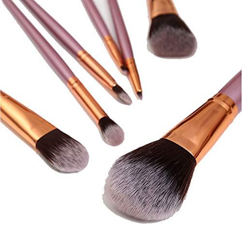 Pinceau de maquillage 7 en Nylon Fard à paupières lèvre pour Les lèvres Maquillage Sac de Maquillage beauté Maquillage kit Gros,Pink