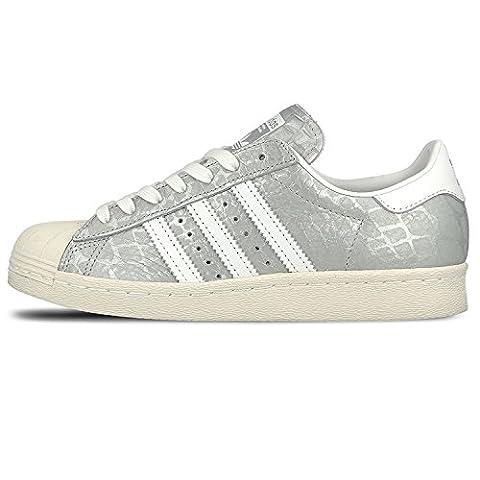 adidas Superstar 80s W Silver White White