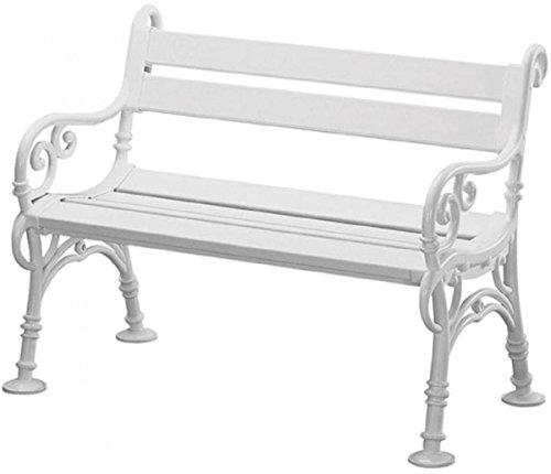 Preisvergleich Produktbild Dreams4Home Gartenbank 'Helga' - Sitzbank,  Bank,  Kunststoff,  3 Sitzer B / T / H: 150 x 43 x 46 cm,  Gartenmöbel,  Terrasse,  Balkon,  Outdoor,  in weiß
