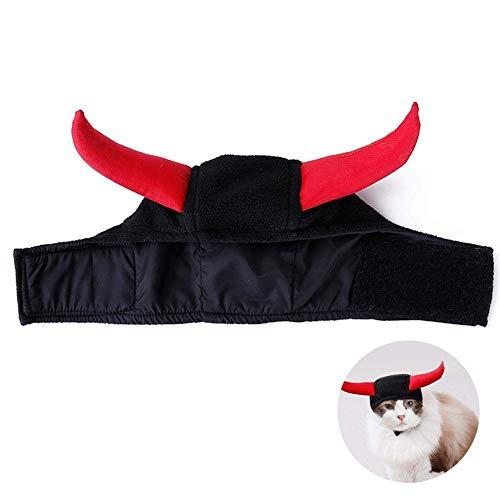 JSMeet Cat Devil Kostüm, Horn Polar Fleece No Sticky Hairs Einstellbarer Kopfschmuck für Halloween (Kitty Kostüm Halloween Soft)