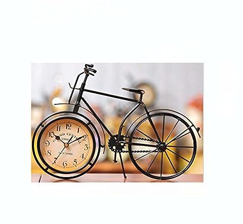 Nettes nicht tickendes Bett-Doppeltes Bell-klassisches Fahrrad-Wecker-stille Doppelglocke-Wecker-Quarz-analoges nicht-ticking Retro Weinlese-klassischer lauter Wecker für Bedside Batterie angetrieben