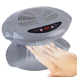 Secador de uñas, Ventilador de secado de manicura con aire frío y caliente, Herramienta de manicura para salón y hogar(Silver)