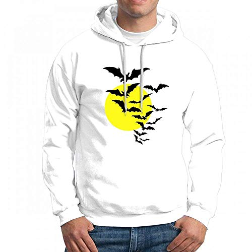 Moon Bats Long Sleeve for Men Custom Hoodies Sweatshirt