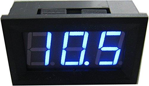 YEECO Digital Voltmeter 7 V-55 V DC Panel Meter 0,56 Zoll 2-draht 3 Ziffern Led-anzeige für Solar Projekte/Batterie Spannung Monitor/Auto Motorrad/Elektrofahrzeuge